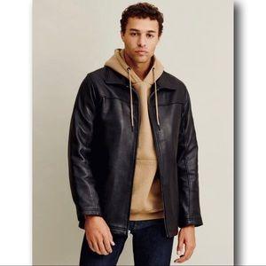 Wilson's Men's Bruce Black Leather Jacket Size M